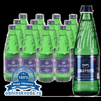 Вода Обнинск: Вода «Джермук Классик» 0,5 (стекло, 12 шт.)