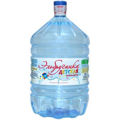 Вода Обнинск: Вода «Эльбрусинка детская» 19 литров ПЭТ