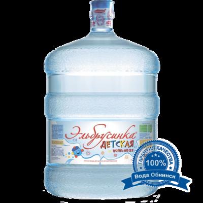Вода Обнинск: Вода «Эльбрусинка Детская» 19 литров