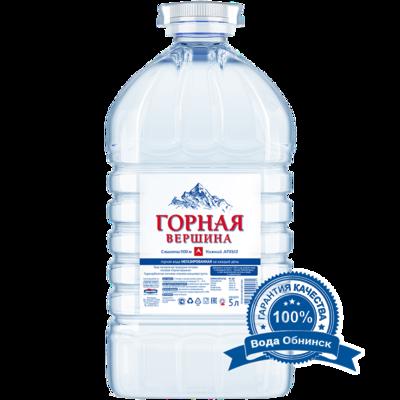 Вода Обнинск: Вода «Горная вершина» 5 литров