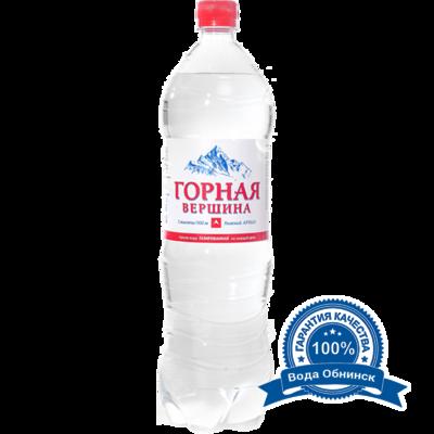 Вода Обнинск: Вода «Горная вершина» ГАЗИРОВАННАЯ 1,5 литра (6 шт.)