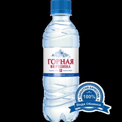 Вода Обнинск: Вода «Горная вершина» НЕГАЗИРОВАННАЯ 0,33 литра (12 шт.)