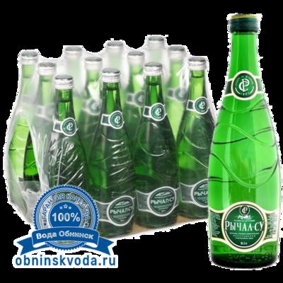 Вода Обнинск: Вода «Рычал-Су» 0,5 литра (стекло, 12 шт.)