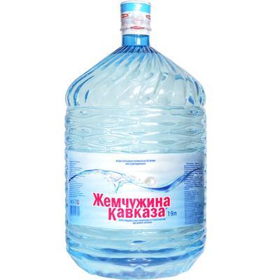 Вода Обнинск: Вода «Жемчужина Кавказа» 19 литров (ПЭТ)